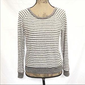 Victoria's Secret gray white striped sweater